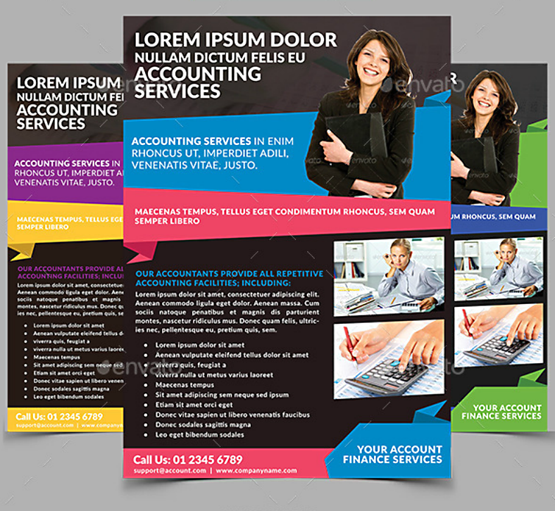 Colorful Accounting Services Flyer Template