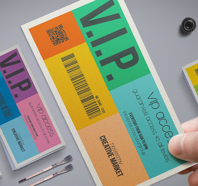 Colorful Metro Style VIP Invitation Template