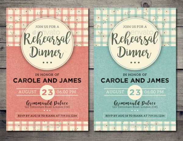 Colorful Wedding Rehearsal Dinner Invitation