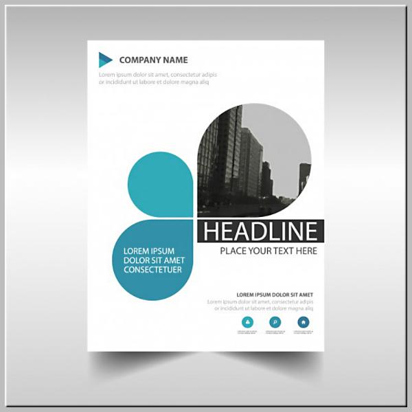 Company Report Creative Book Cover Template