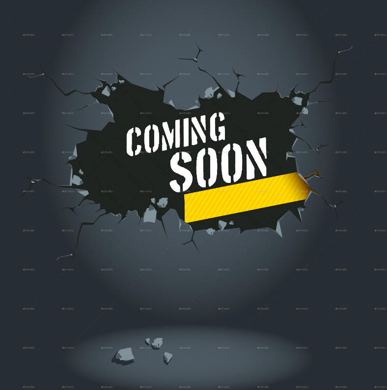 Concrete Wall Coming Soon Announcement Template