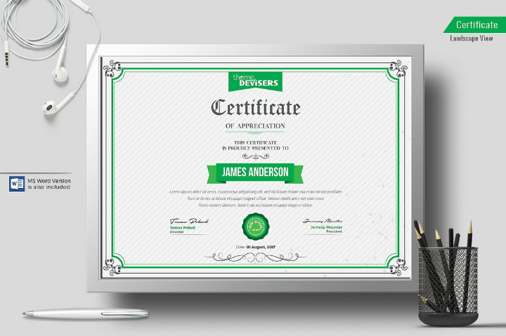 corporate appreciation degree certificate template