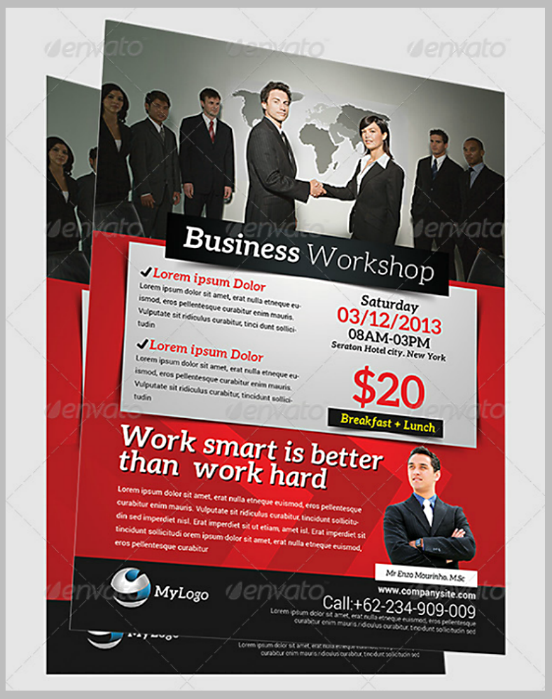 Corporate Business Workshop Flyer Template