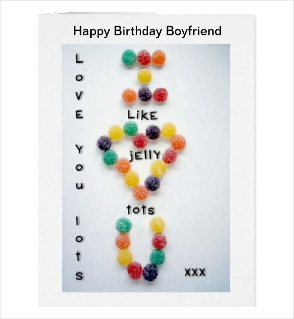 Creative Boyfriend Birthday Card Template
