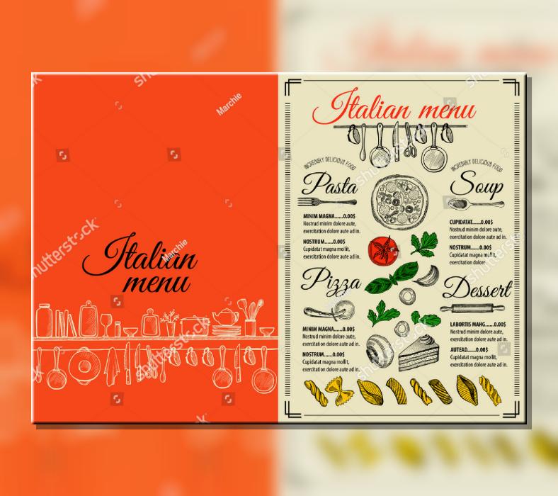 creative vintage italian food menu template 788x700
