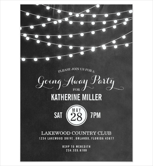 Dark Going Away Party Flyer Template