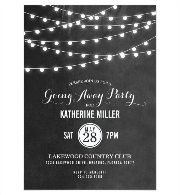 Dark Going Away Party Flyer Template