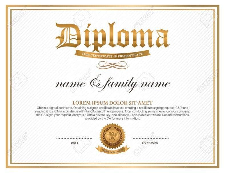 9 high school diploma certificate designs templates for High school diploma certificate fancy design templates