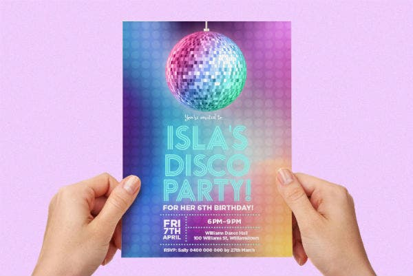 disco party invitation featured img