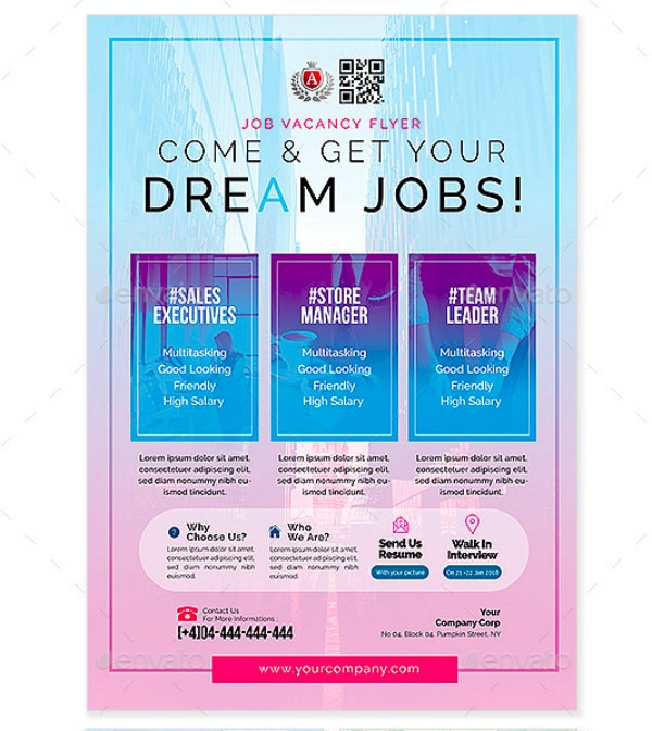 Dream Job Vacancy Flyer