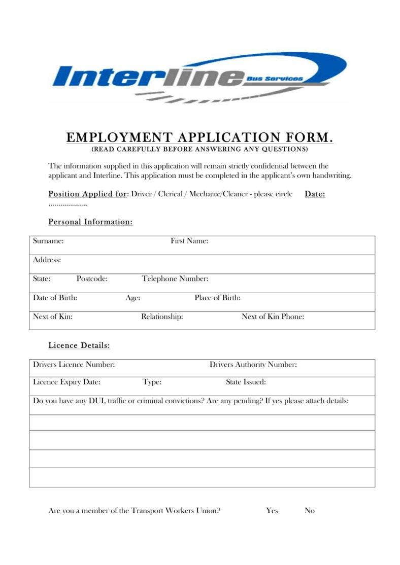 employment application form 1 788x1114