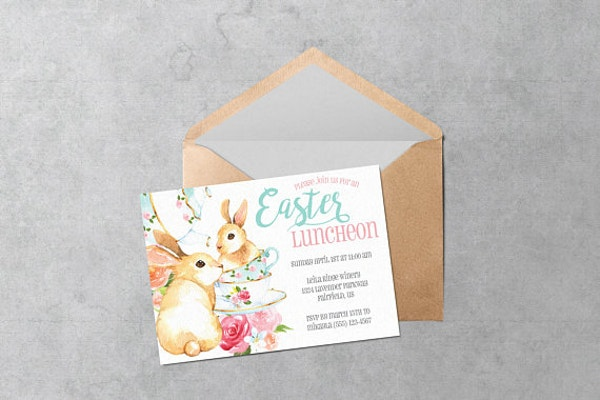 Easter Luncheon Invitation Template