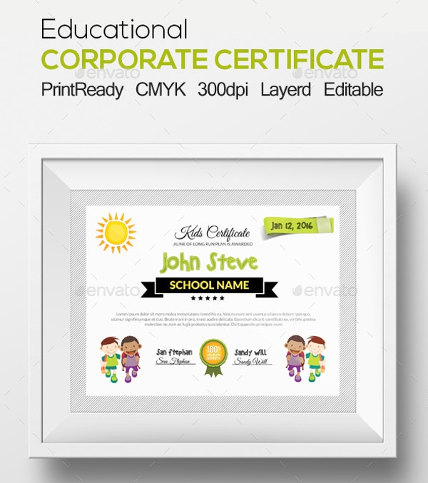 Educational Corporate Certificate