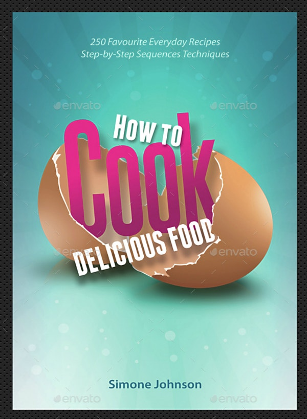 egg shell food book cover template