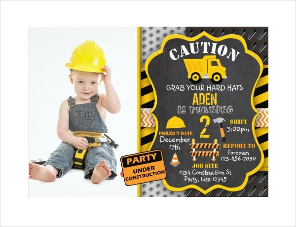 Elegant Baby Boy Birthday Invitation