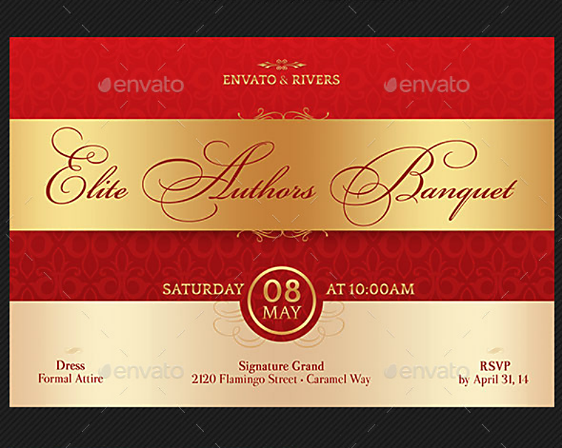 Elegant Banquet Invitation Template