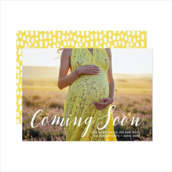 Elegant Coming Soon Pregnancy Announcement