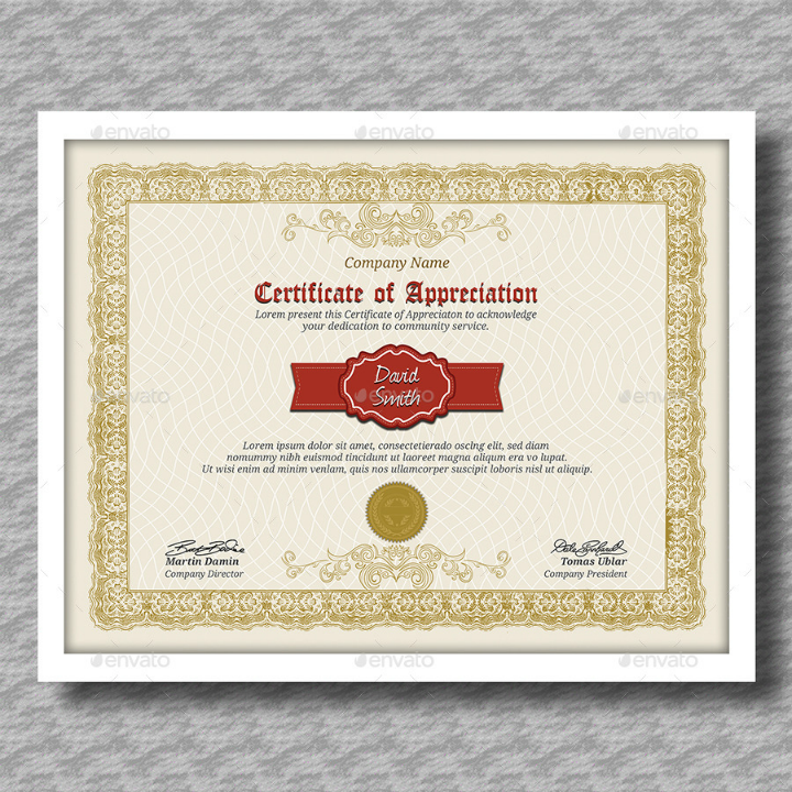 elegant degree certificate template