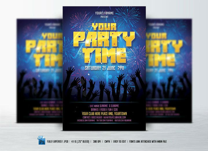 elegant-disco-party-flyer-invitation-template