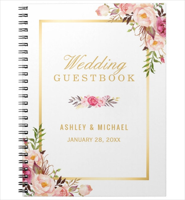 elegant floral notebook cover template
