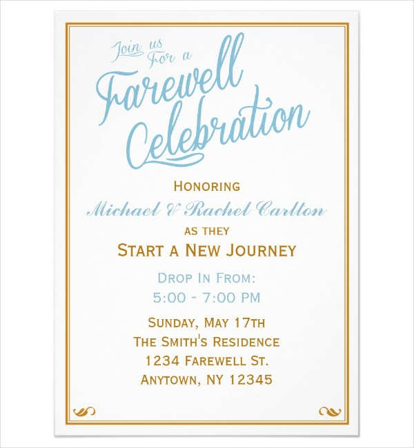 Elegant Going Away Party Flyer Template