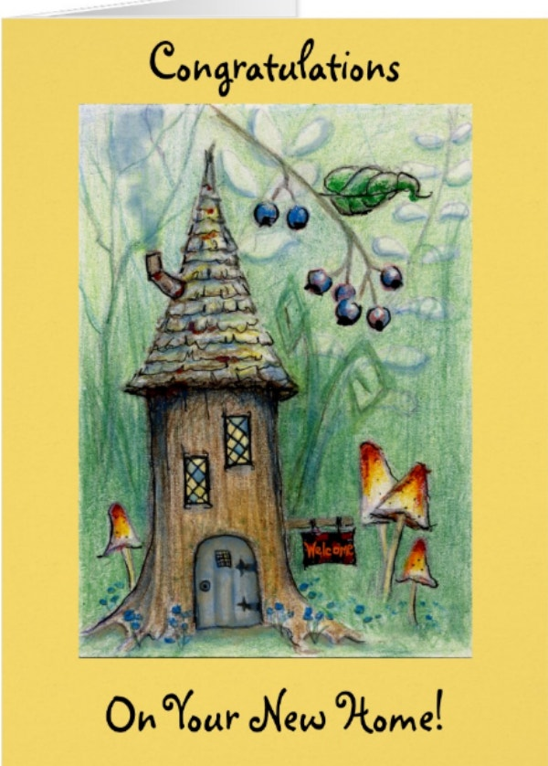 Elf House Nature Greeting Card