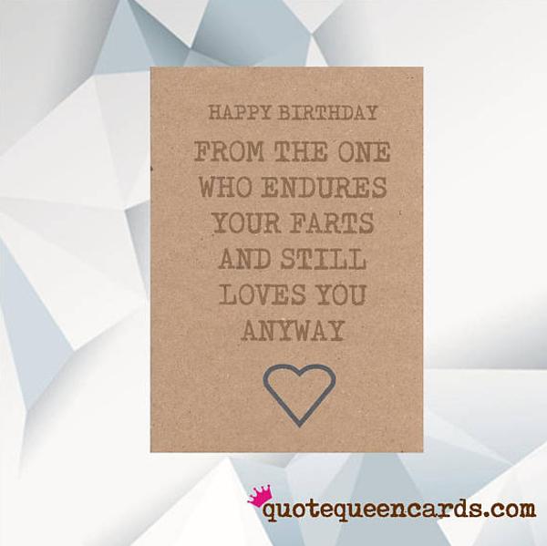 Farts Boyfriend Birthday Card Template