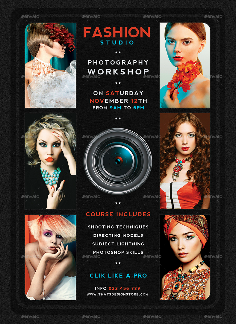 Fashion Photography Workshop Flyer
