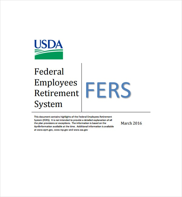 Federal Employees Retirement Template