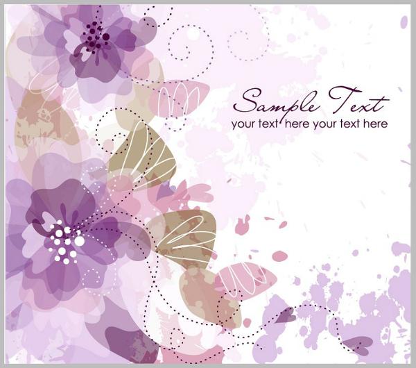 flat custom purple invitation template