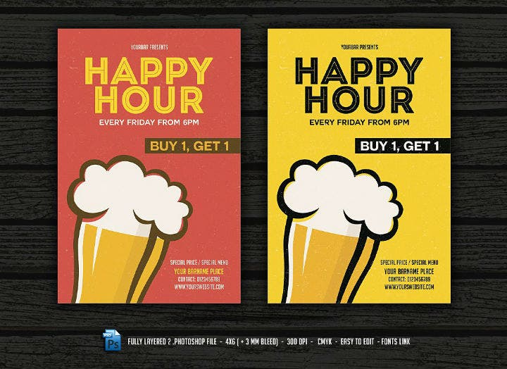 flat-design-happy-hour-flyer-menu-template
