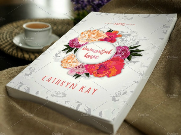 floral immortal love book cover template