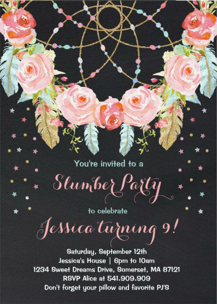 floral-slumber-party-birthday-invitation-template