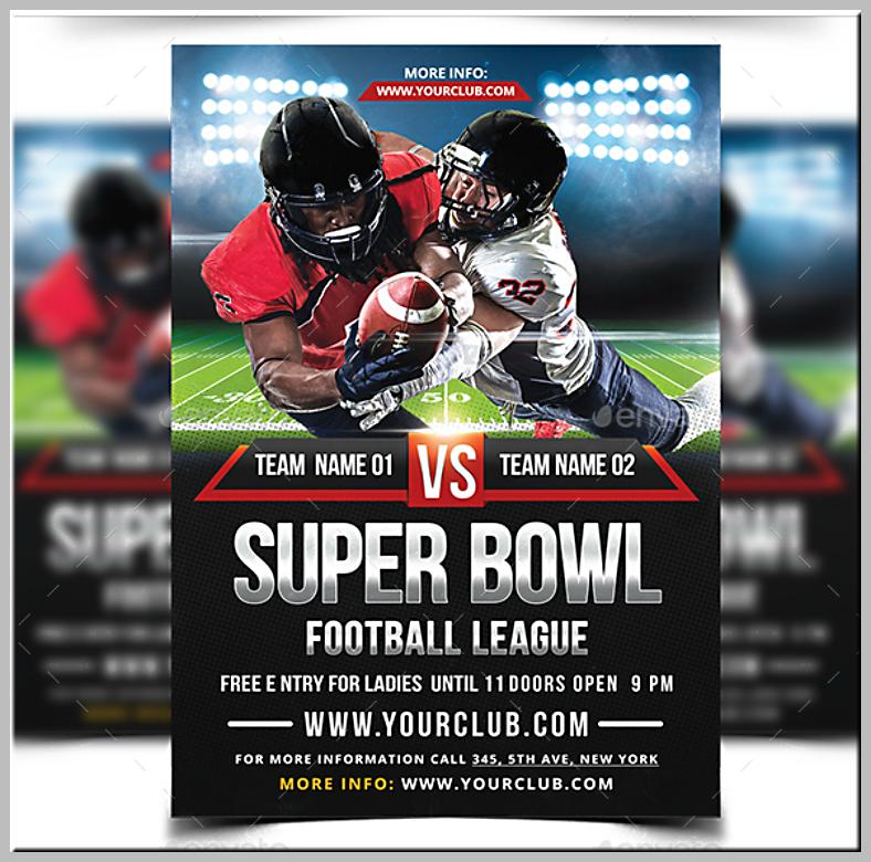 super bowl flyers templates free ecza productoseb co