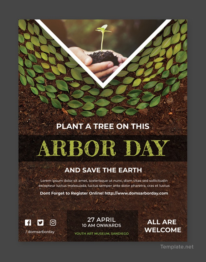 Free Arbor Day Flyer Template