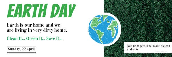 free-earth-day-twitter-header-cover-template