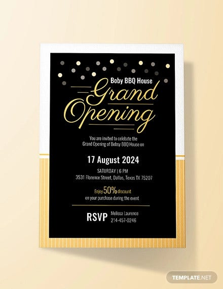 free grand opening invitation card template