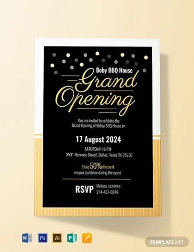 free grand opening invitation card template1