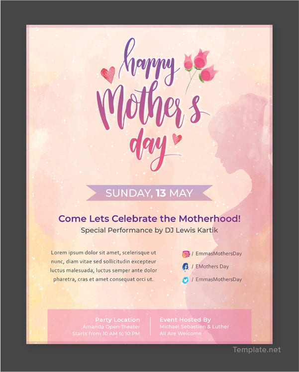 free mothers day flyer template