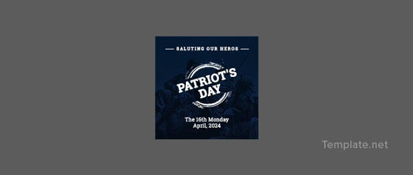 free-patriots-day-pinterest-profile-photo-template