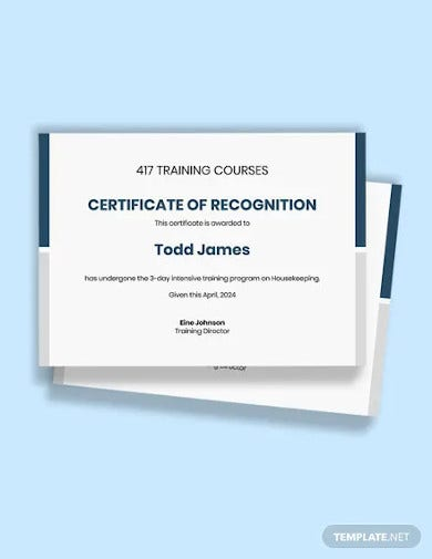 free training course certificate template