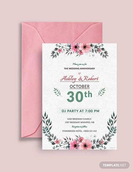 free wedding dj party invitation template