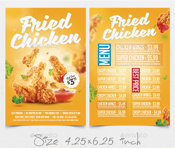 10  chicken flyer designs and templates