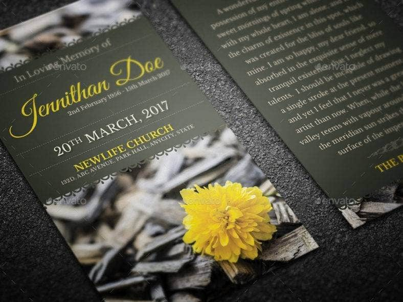 funeral prayer card template 788x591