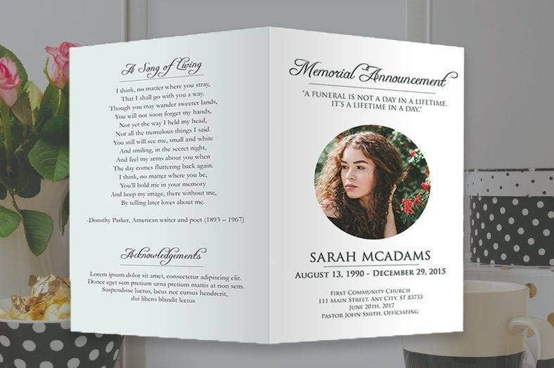 funeral program photoshop template 788x524