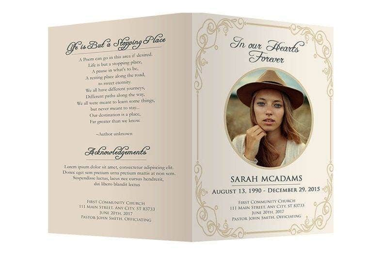 12  personalized memorial card designs and templates