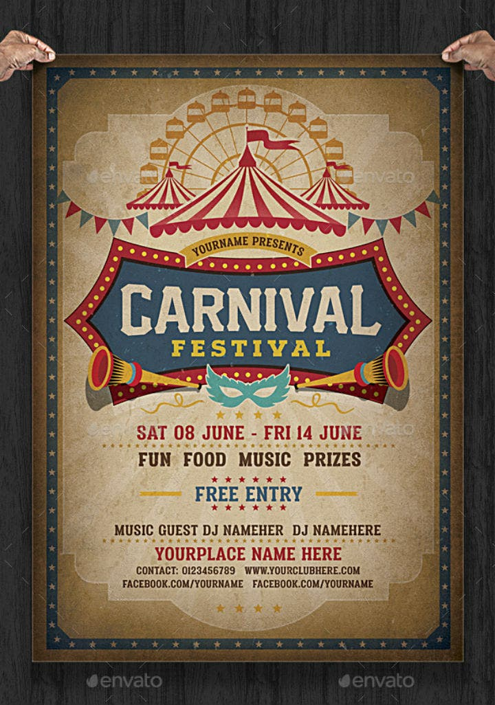 16  carnival party invitation designs  u0026 templates