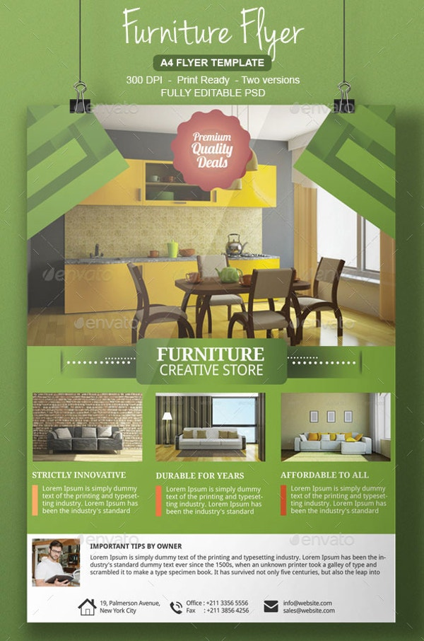 Furniture A4 Flyer Template