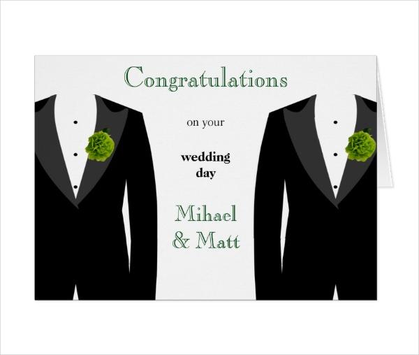Gay Wedding Congratulation Card