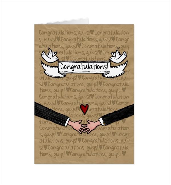 Gay Wedding Couple Congratulation Card